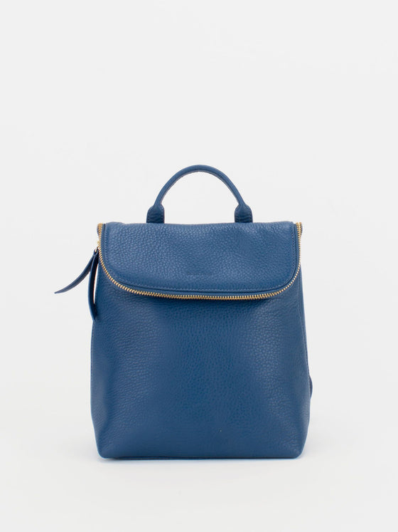 ALIZA Leather Mini Backpack - Royal Blue