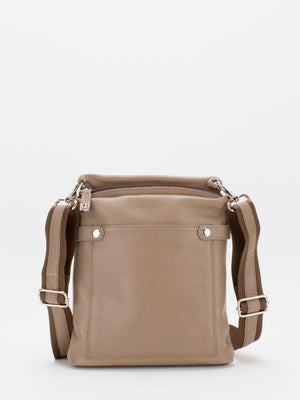 Brooklyn Leather Crossbody - Latte