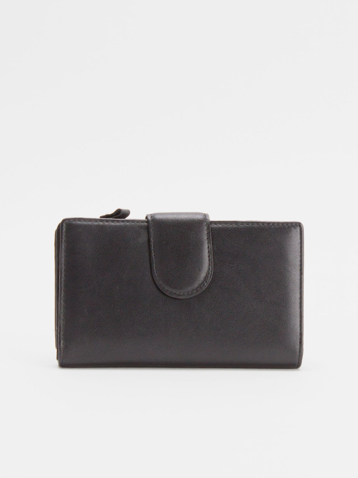 Oxford Leather Medium Wallet - Black