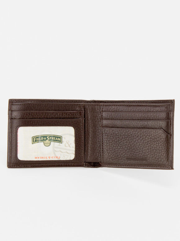 NEWCASTLE RFID Blocking Leather Men's Wallet - Brown