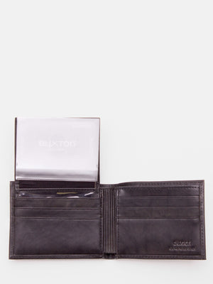 Benjamin ID Passcase Napa Leather Billfold - Marbled Black