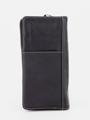 Willow Leather Travel Organizer - Black