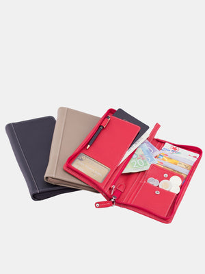 Willow Leather Travel Organizer - Red