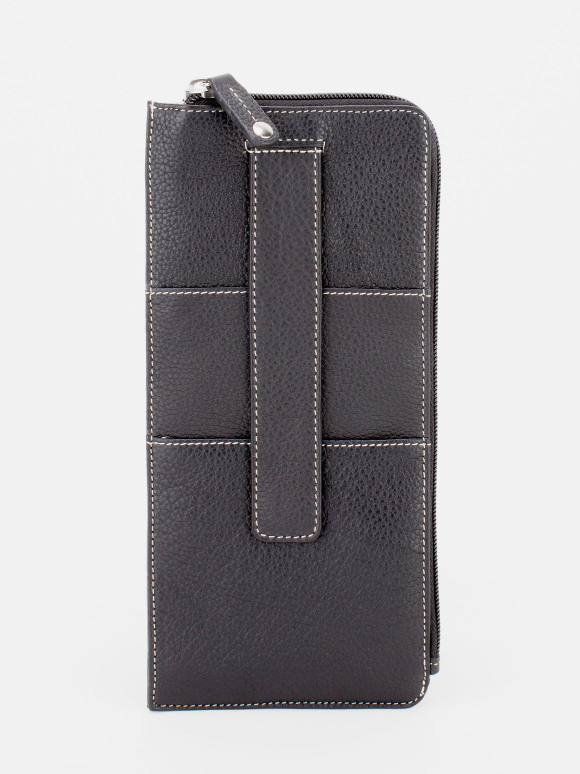 Skyler Leather Travel Wallet - Black