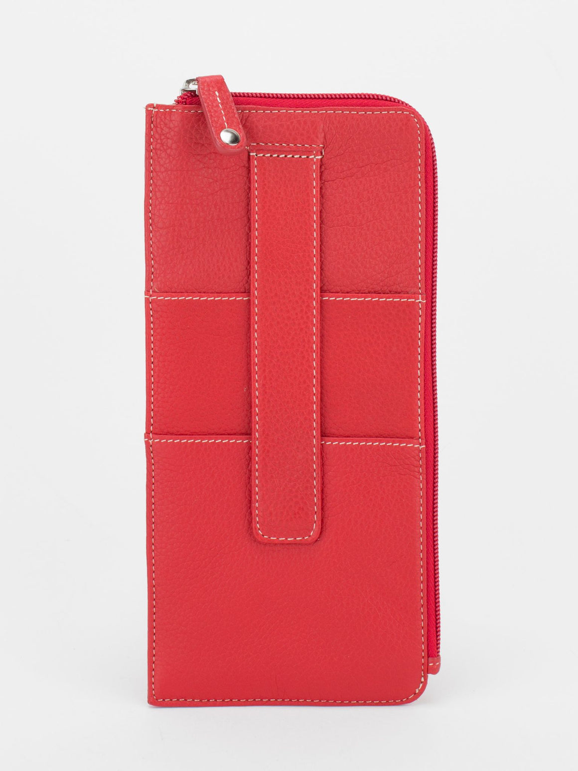 Skyler Leather Travel Wallet - Red