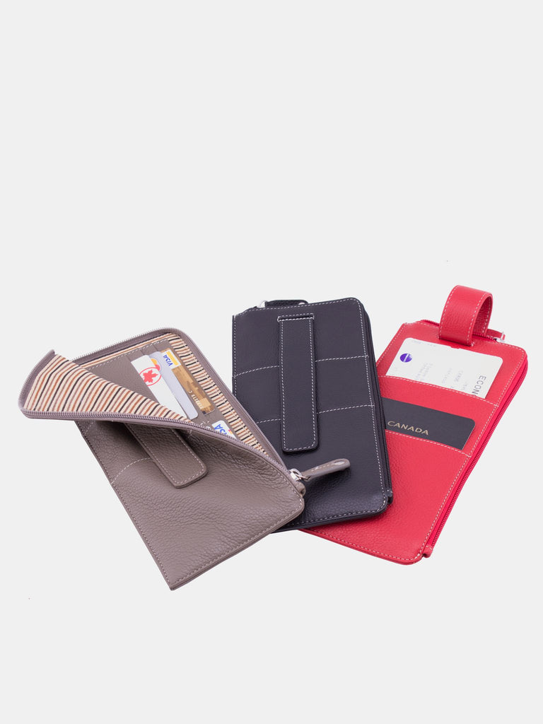 SKYLER Leather Travel Wallet