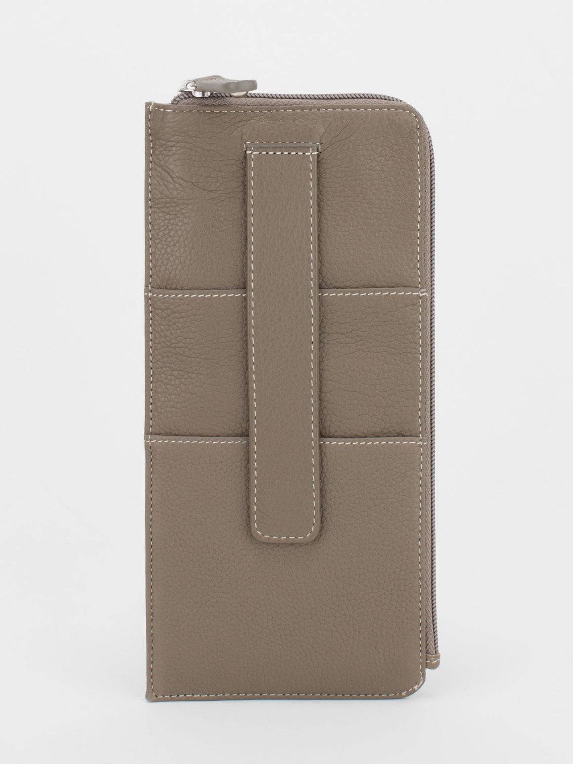 Skyler Leather Travel Wallet - Taupe