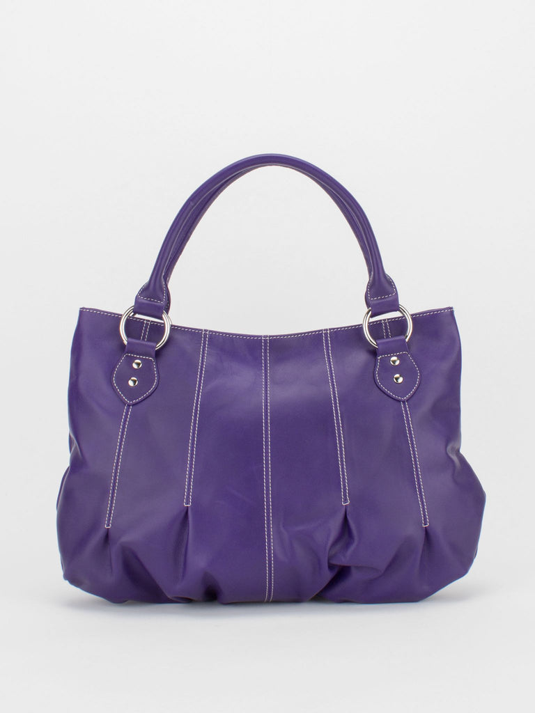 JOAN Leather Pleated Tote