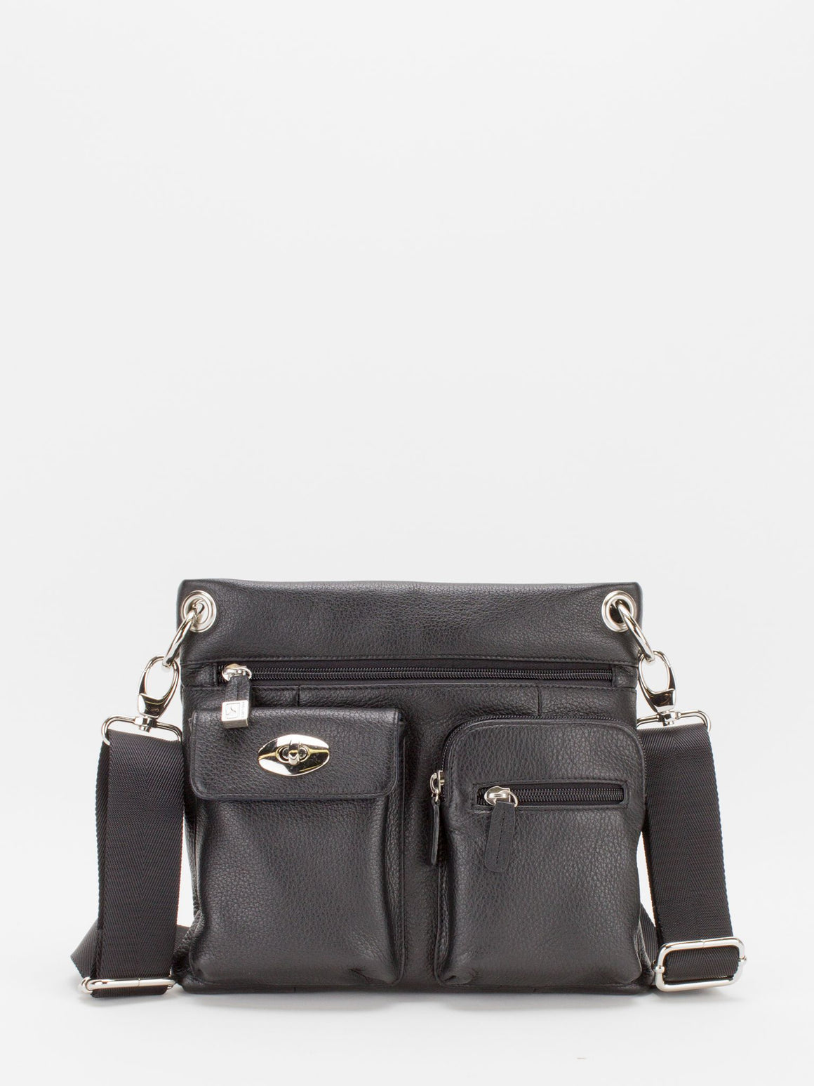Presley Leather Crossbody - Black
