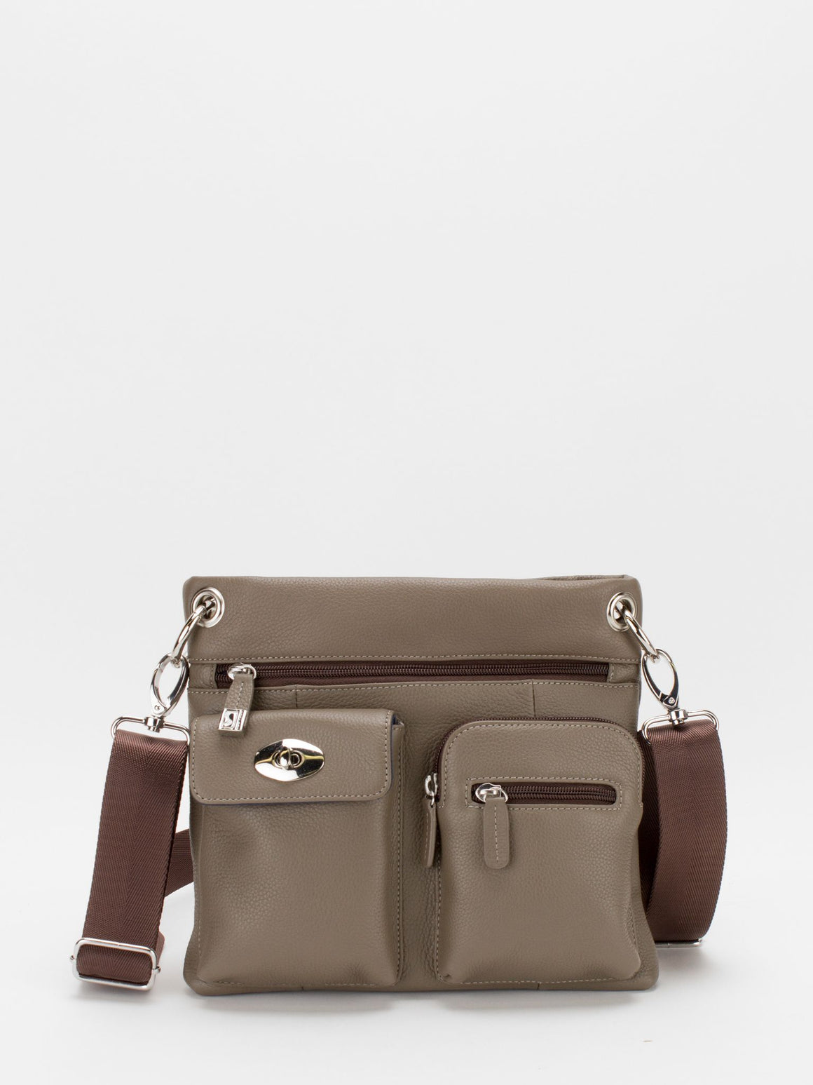Presley Leather Crossbody - Latte