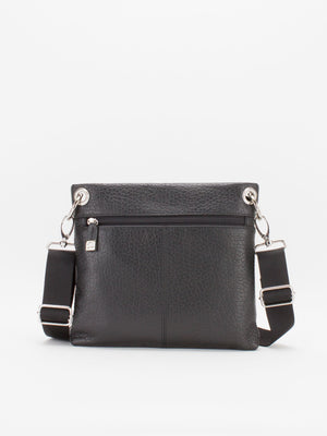 Coventry Leather Crossbody - Black