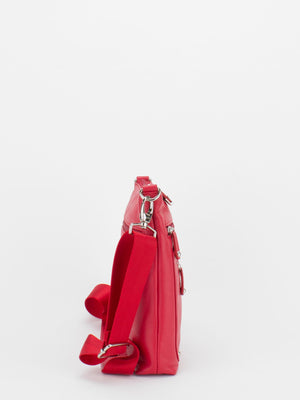 Frances Leather Crossbody - Red