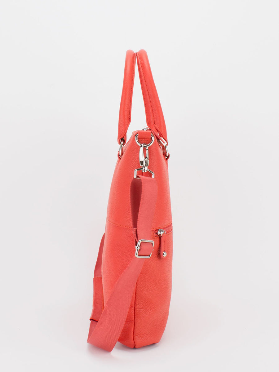 Caitlyn Leather Crossbody - Orange