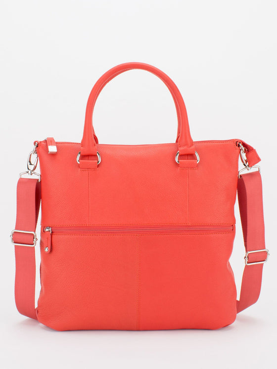 CAITLYN Pebble Leather Crossbody - Orange