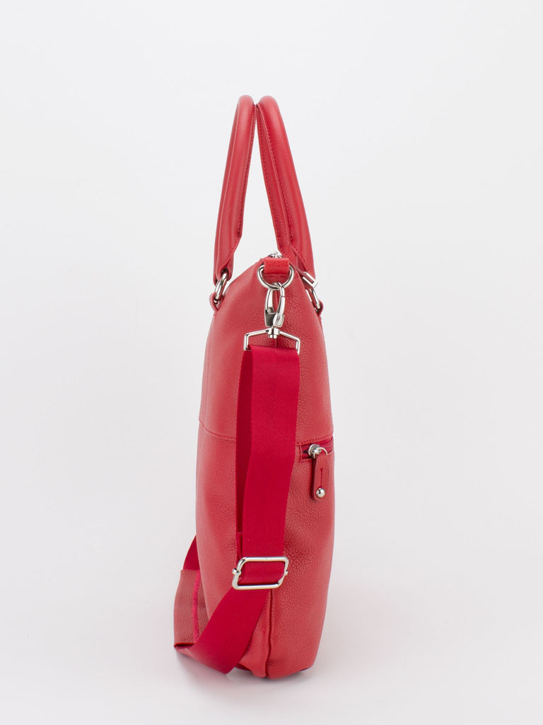CAITLYN Pebble Leather Crossbody - Red
