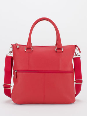 Caitlyn Leather Crossbody - Red