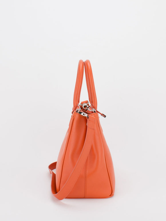 JOYCE Smooth Grain Satchel - Orange