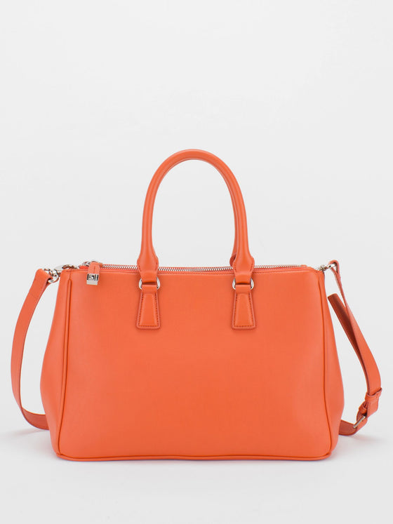 Joyce Leather Satchel - Orange