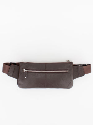 Bailey Leather Crosschest/Waist Pack - Brown