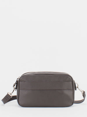 Candice Leather Crossbody Bag - Brown