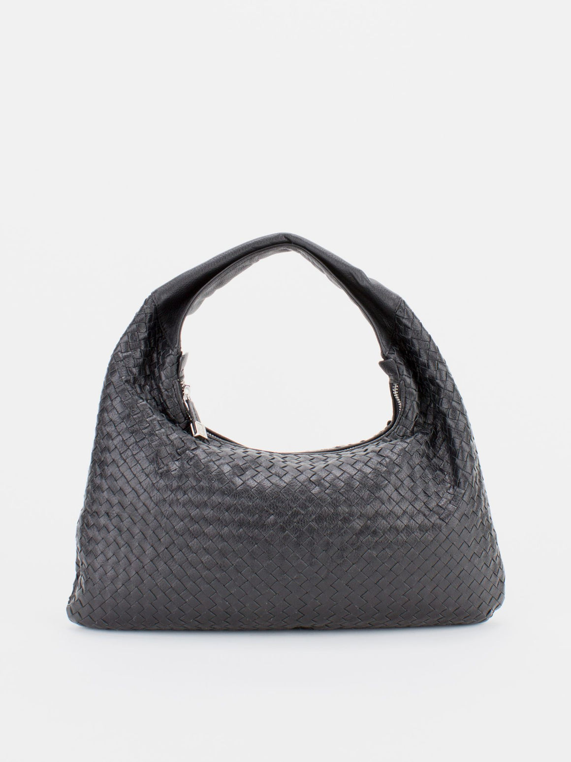 DANA Woven Leather Hobo - Black