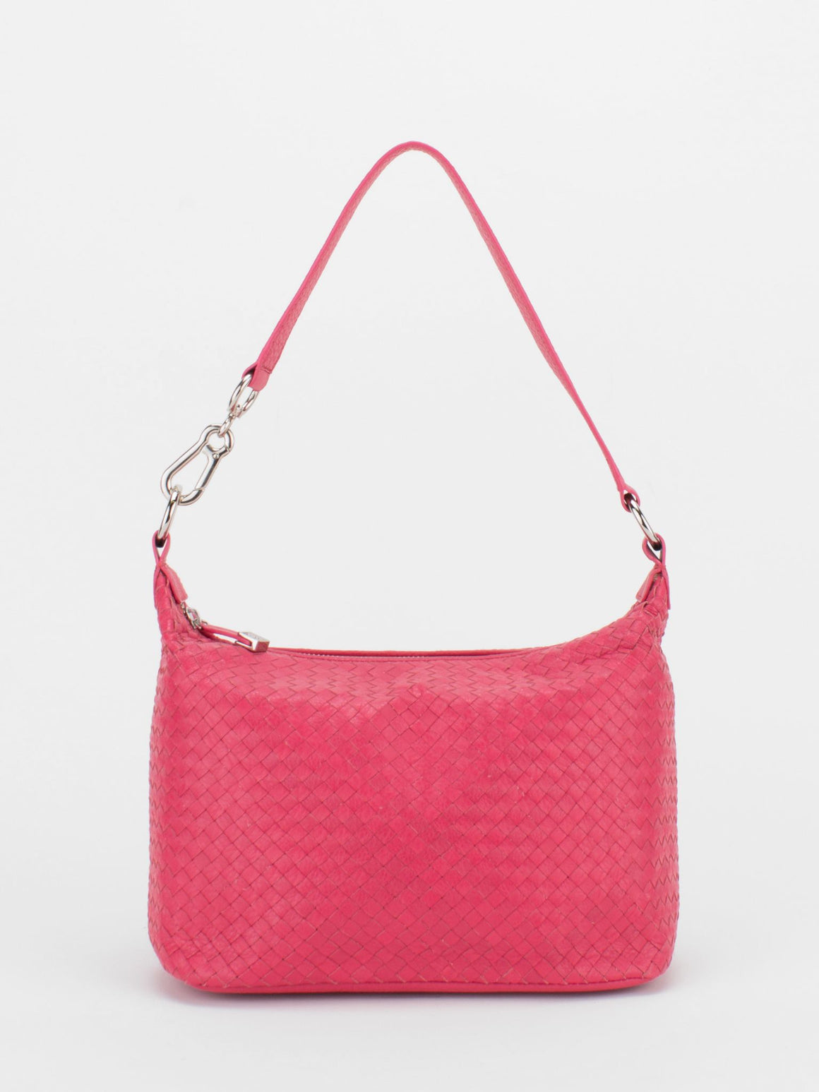 VENUS Woven Leather Hobo - Pink