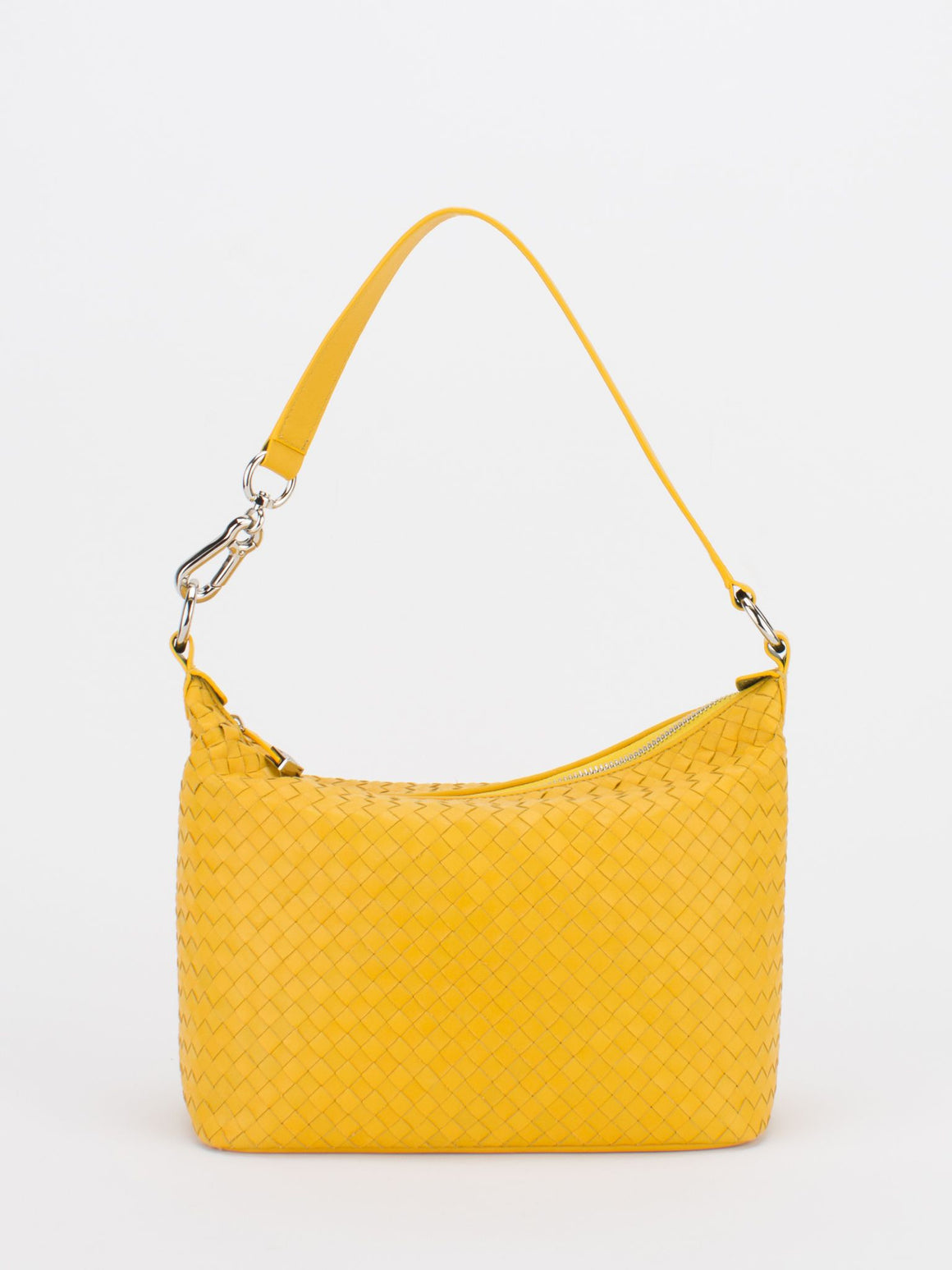 VENUS Woven Leather Hobo - Sunflower