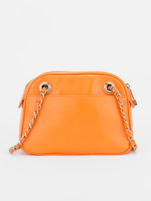 Laurie Leather Quilted Bag - Orange