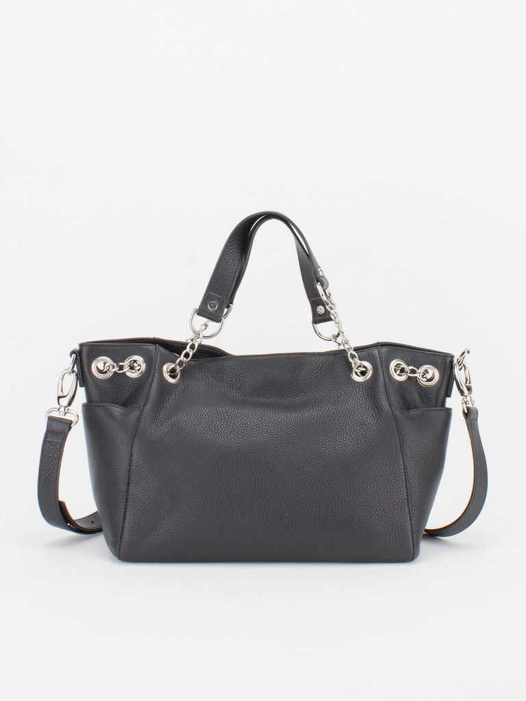Kate Leather Satchel - Black