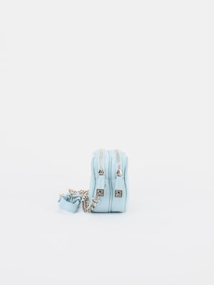 Tiffany Leather Macaron Mini Shoulder Bag - Pastel Blue