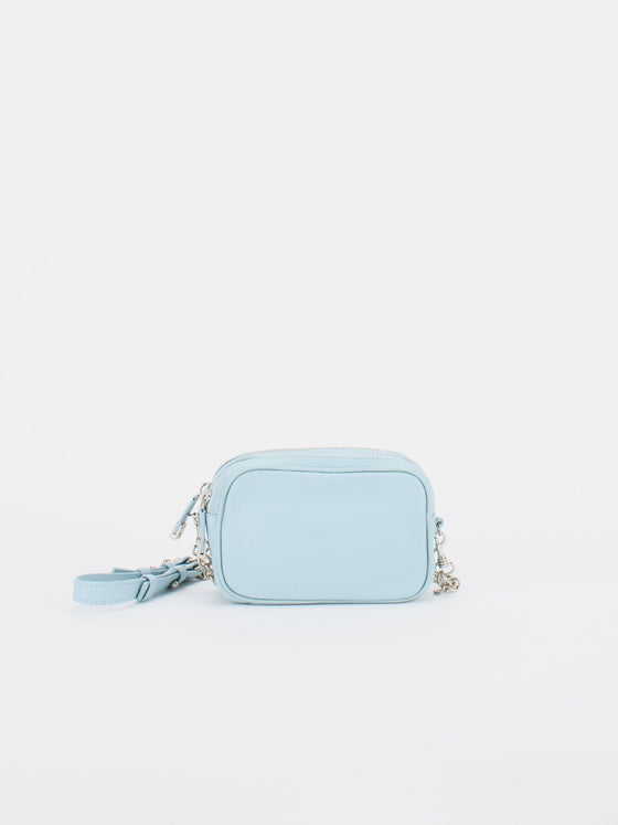 TIFFANY Leather Macaron Mini - Baby Blue