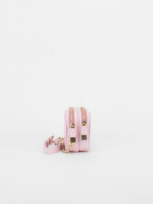 Tiffany Leather Macaron Mini Shoulder Bag - Pastel Pink