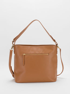Kimberly Leather Shoulder Bag - Caramel