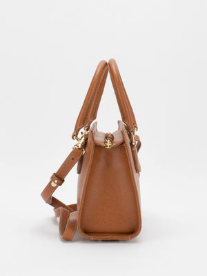 Yolanda Leather Satchel - Tan