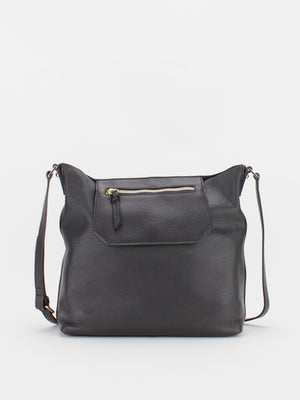 Jodi Leather Shoulder Bag - Black