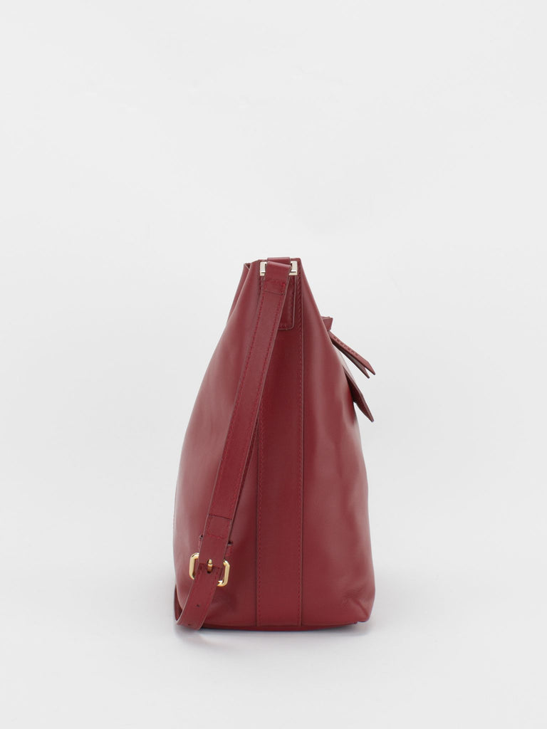 Jodi Leather Shoulder Bag - Auburn Red