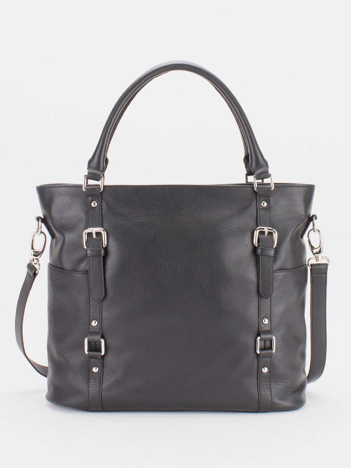 Aubrey Large Leather Tote - Black
