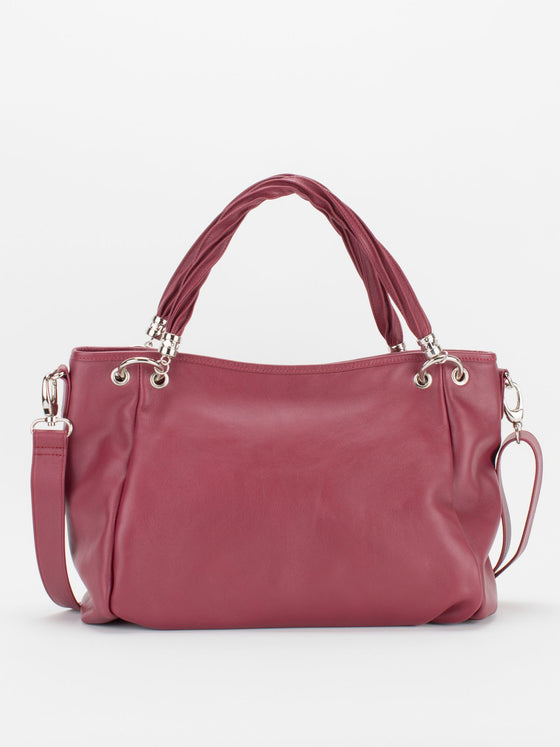 Emmy Leather Tote - Wine