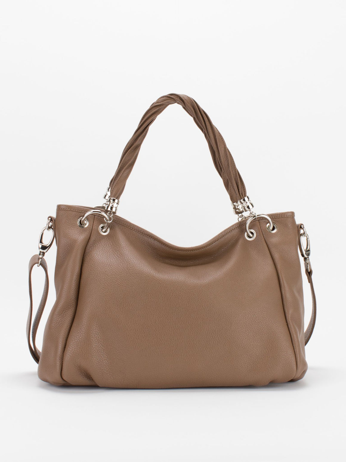 Emmy Leather Tote - Latte