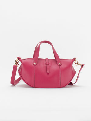 Greta Leather Crossbody Bag - Fuchsia