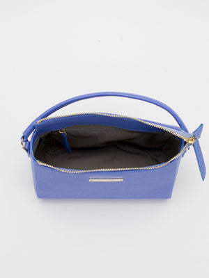 Krista Leather Crossbody - Periwinkle