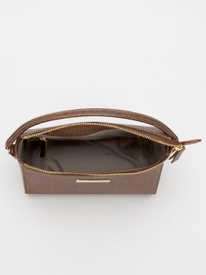 Krista Leather Crossbody - Bronze