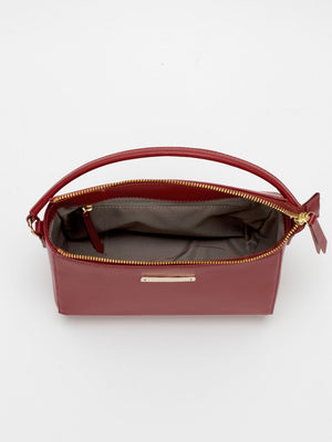 Krista Leather Satchel - Fire Brick Red