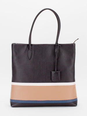 Adele Leather Tote - Black Multi