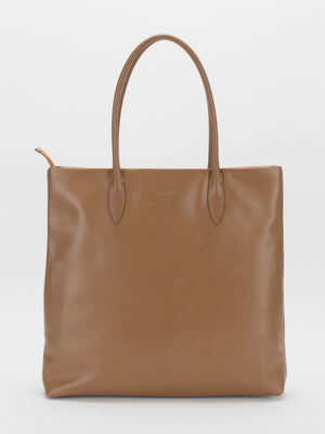 Adele Leather Tote - Brown Multi