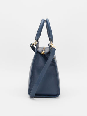 Jacqueline Leather Satchel - Blue