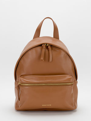 Jamie Leather Backpack - Tan