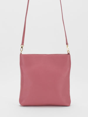 Bridget Leather Crossbody - Rose Pink