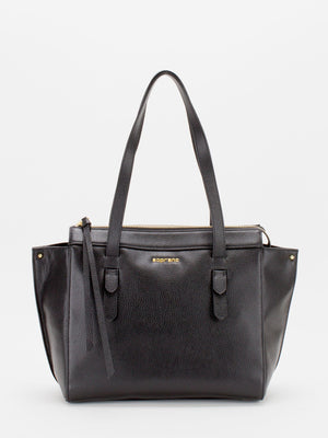 Sonia Leather Tote - Black