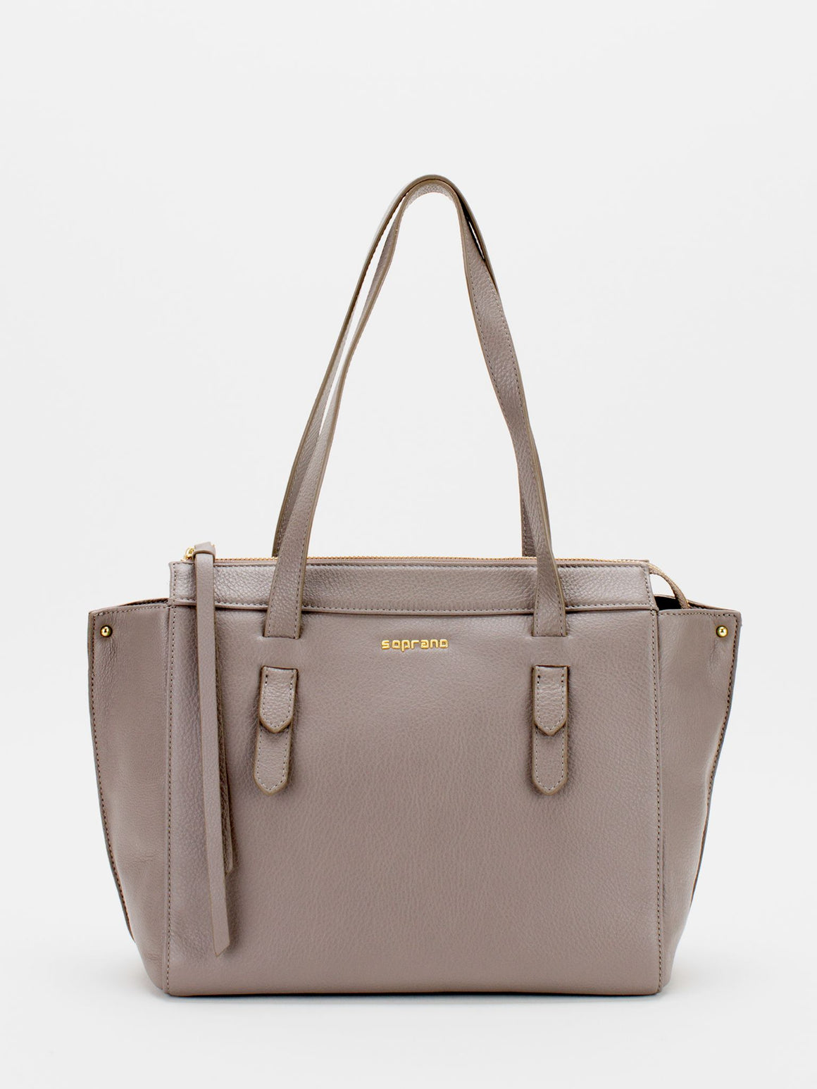 Sonia Leather Tote - Grey